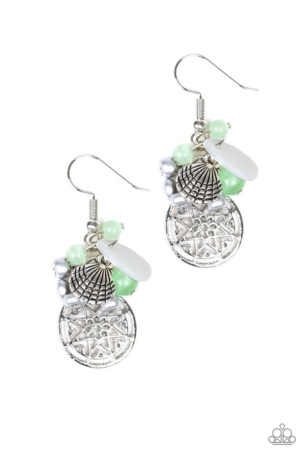 Paparazzi Ocean Oracle Green Earrings - Glitzygals5dollarbling Paparazzi Boutique