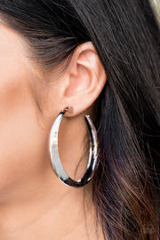 Let's Get Ready to Rumble Silver Earrings Fashion Fix - Glitzygals5dollarbling Paparazzi Boutique