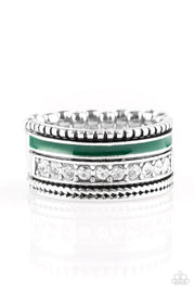 Paparazzi Ring ~ Rich Rogue - Green - Glitzygals5dollarbling Paparazzi Boutique