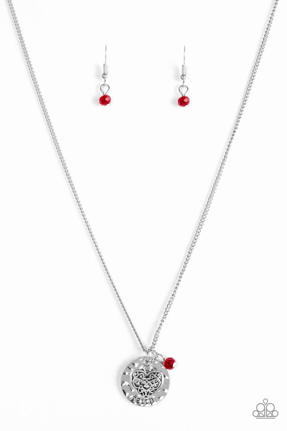 A Show of Good Faith Red Necklace