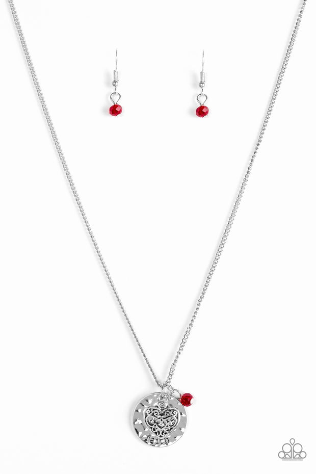 Paparazzi A Show of Good Faith Red Necklace - Glitzygals5dollarbling Paparazzi Boutique