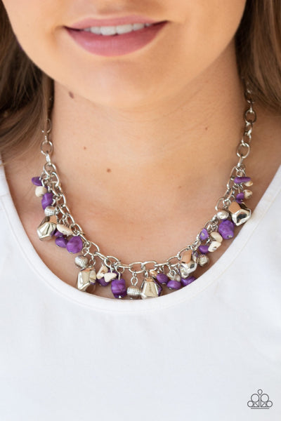 Paparazzi Quarry Trail Purple Necklace - Glitzygals5dollarbling Paparazzi Boutique