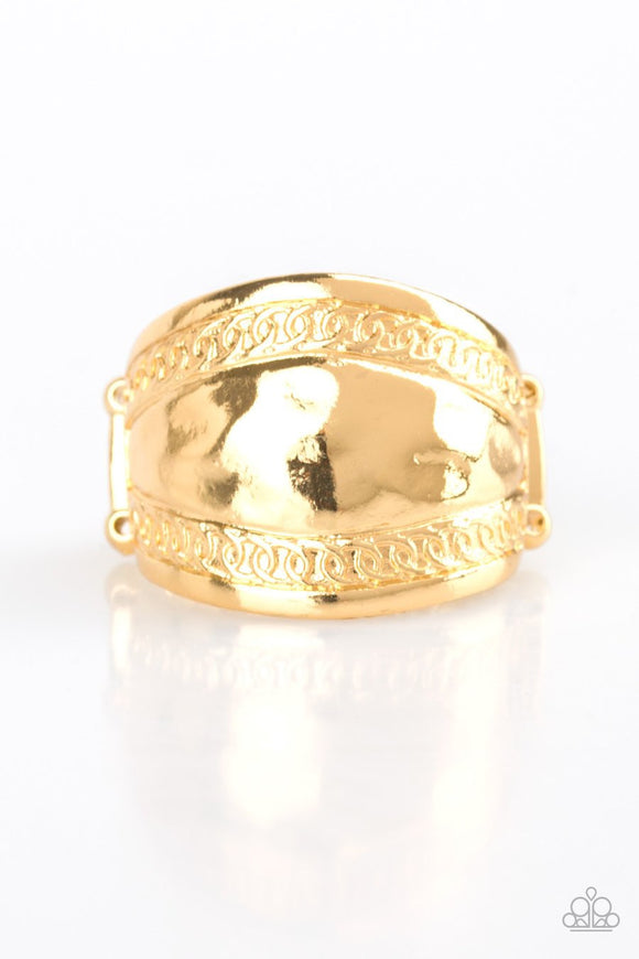 Paparazzi Sunset Groove - Gold - Ring
