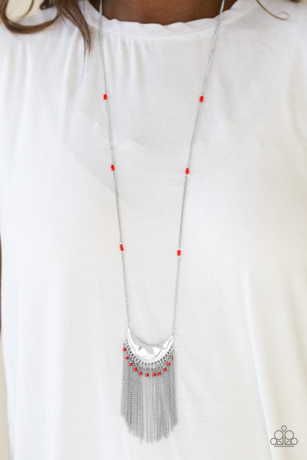 Paparazzi Desert Trance Red Necklace - Glitzygals5dollarbling Paparazzi Boutique