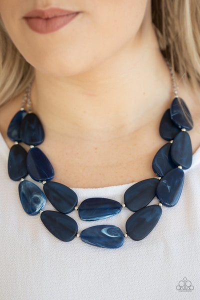 PREORDER Paparazzi Colorfully Calming - Blue Necklace - Glitzygals5dollarbling Paparazzi Boutique