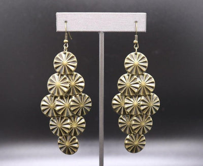PAPARAZZI STAR SPANGLED SHINE - BRASS Exclusive Earrings