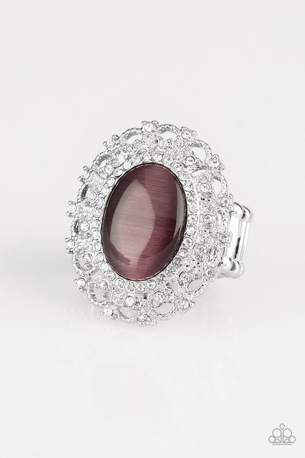 Paparazzi BAROQUE The Spell - Purple Moonstone Ring - Life of the Party Exclusive December 2018