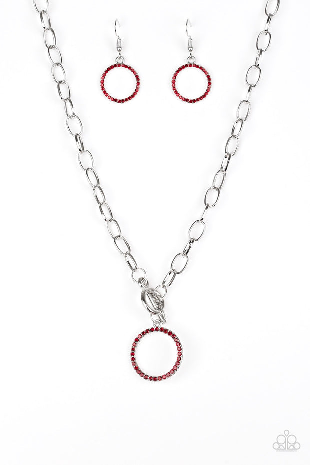 All in Favor Red Necklace - Glitzygals5dollarbling Paparazzi Boutique