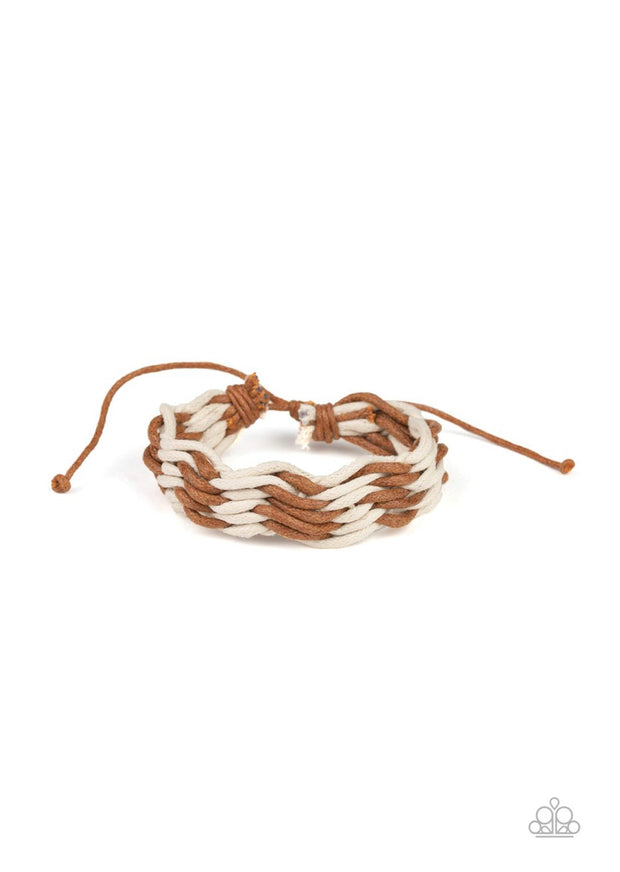 Weave High and Dry Brown Urban Bracelet