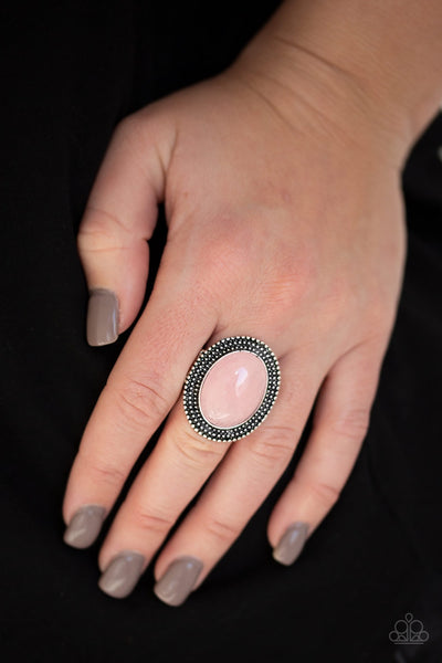 Paparazzi Outdoor Oasis - Pink Ring - Glitzygals5dollarbling Paparazzi Boutique
