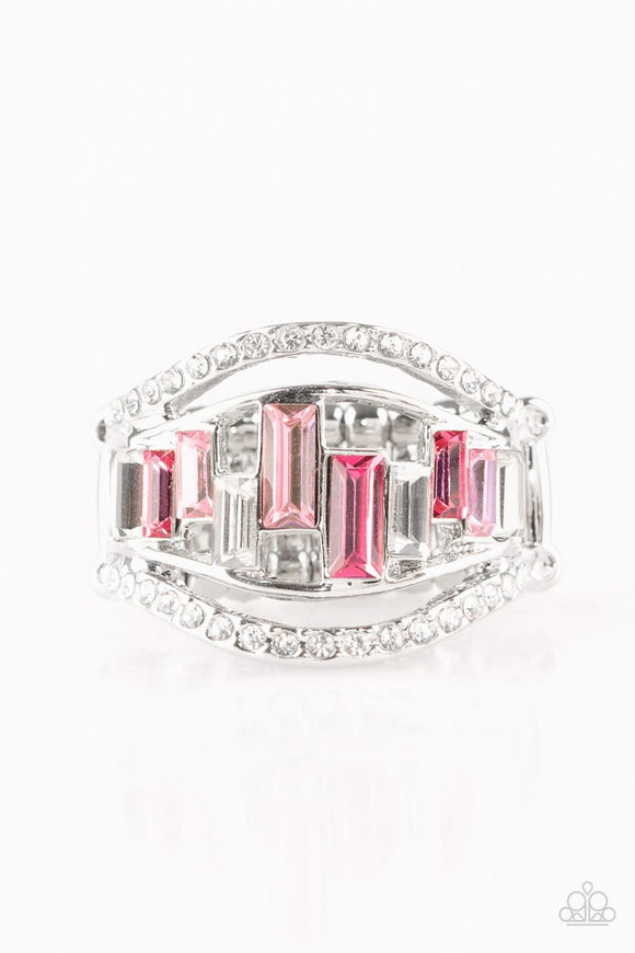 Paparazzi Treasure Chest Charm - Pink Ring