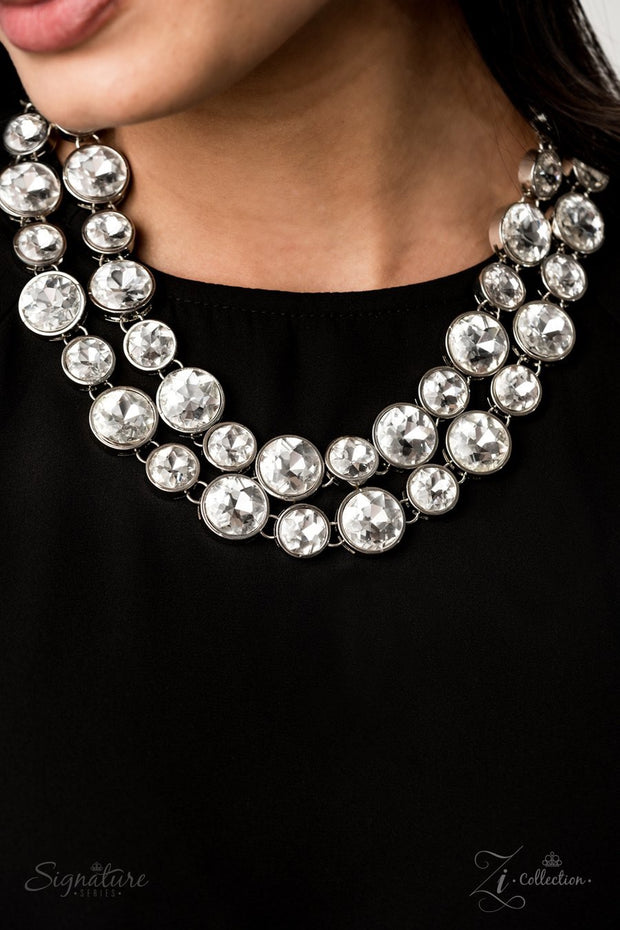 Paparazzi The Natasha - 2019 Zi Collection - Necklace and matching Earrings