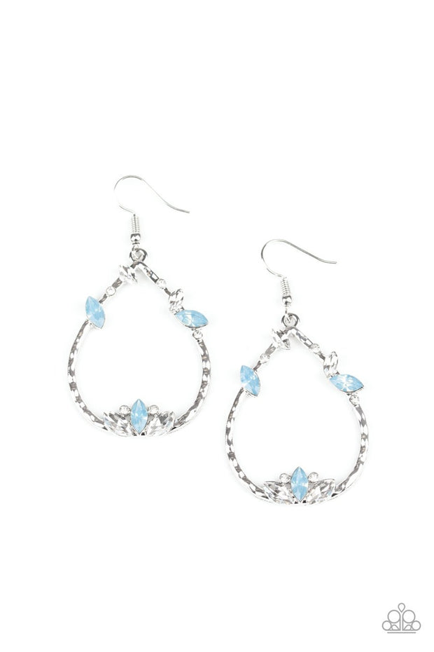 Lotus Ice - blue - Paparazzi earrings