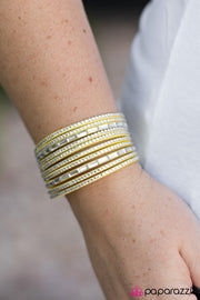 Name Your Price Yellow Bracelet - Glitzygals5dollarbling Paparazzi Boutique