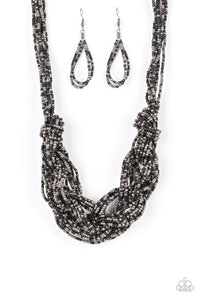 Paparazzi City Catwalk Black Seed Bead Necklace