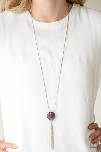 Paparazzi Happy As Can BEAM - Purple Moonstone Necklace - Glitzygals5dollarbling Paparazzi Boutique