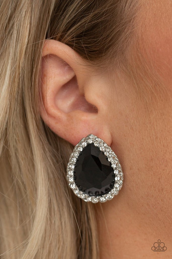 Paparazzi Dare to Shine Black Post Earrings