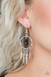 "Paparazzi ""Southern Plains"" Black Earrings - Glitzygals5dollarbling Paparazzi Boutique"