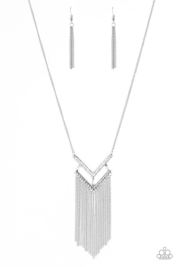 Paparazzi Alpha Glam White Necklace