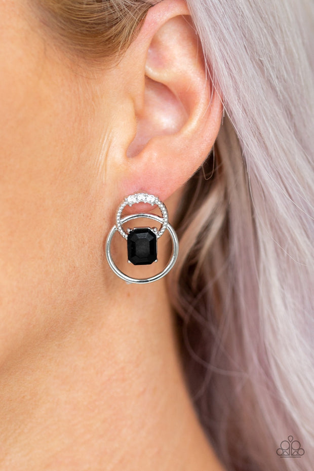 Paparazzi Dangerously Dapper Black Earrings - Glitzygals5dollarbling Paparazzi Boutique