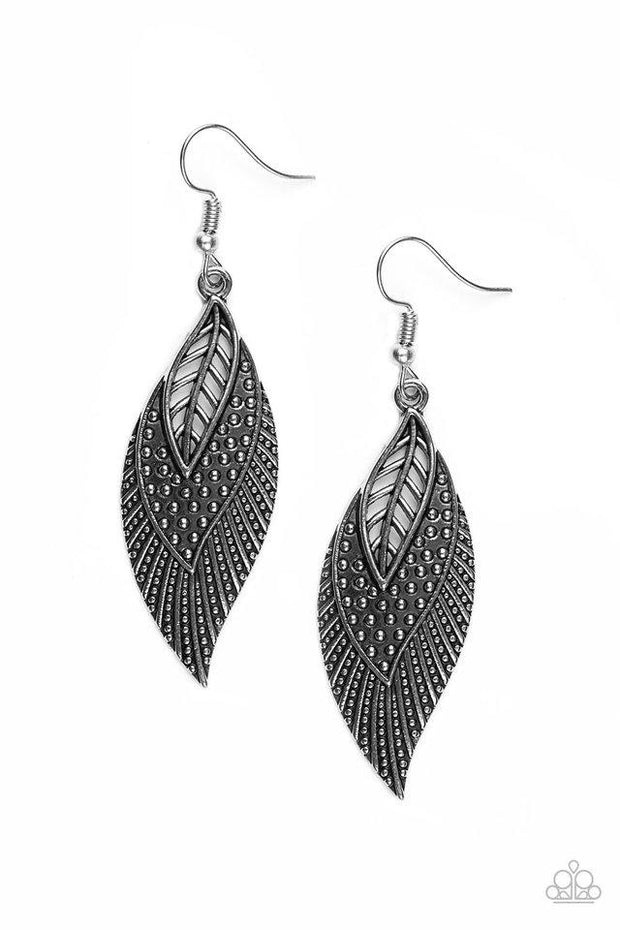 Paparazzi Wind Wanderer Silver Earrings - Glitzygals5dollarbling Paparazzi Boutique