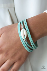 Paparazzi Vitamin SEA - Blue Suede - Seashell - Bracelet