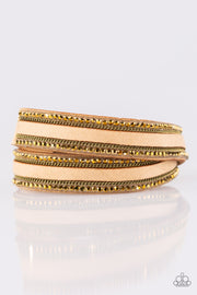 Paparazzi Going For Glam Brass Urban Bracelet - Glitzygals5dollarbling Paparazzi Boutique