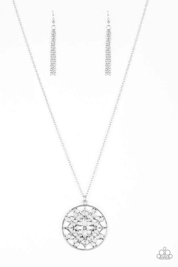 Paparazzi Mandala Melody Silver Necklace - Glitzygals5dollarbling Paparazzi Boutique