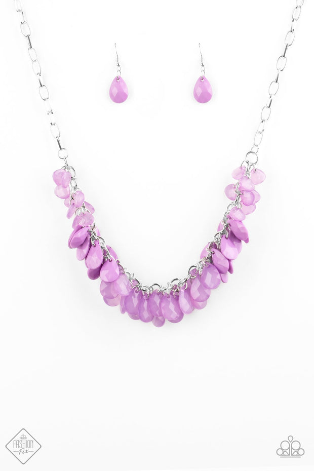 Paparazzi Colorfully Clustered - Purple Fashion Fix Exclusive Necklace - Glitzygals5dollarbling Paparazzi Boutique