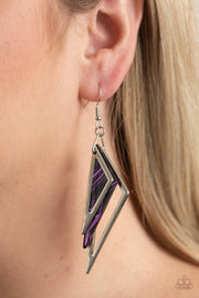 Evolutionary Edge - purple - Paparazzi earrings - Glitzygals5dollarbling Paparazzi Boutique