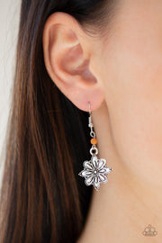 Paparazzi Cactus Blossom Orange Earrings - Glitzygals5dollarbling Paparazzi Boutique