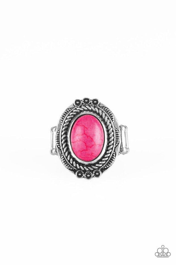 Paparazzi Ring ~ Tumblin Tumbleweeds - Pink - Glitzygals5dollarbling Paparazzi Boutique
