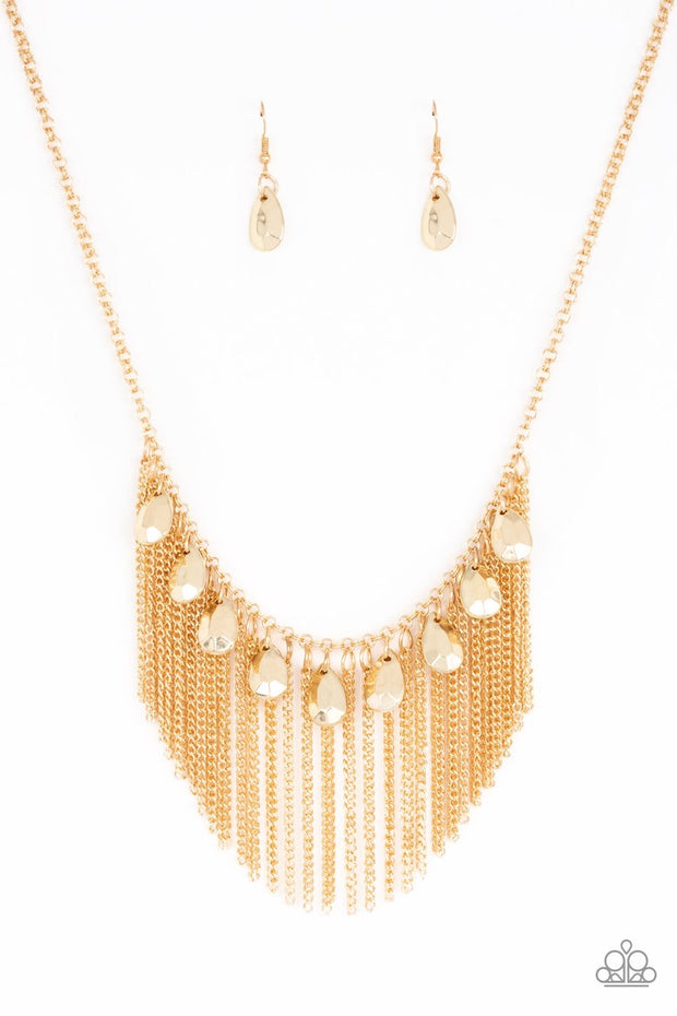 Bragging Rights - gold - Paparazzi necklace