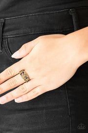 Paparazzi Ring ~ Noble Nova - Brass - Glitzygals5dollarbling Paparazzi Boutique