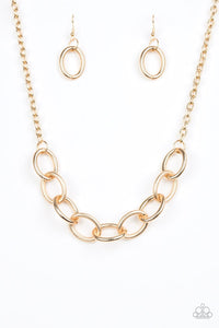 Paparazzi Boldly Bronx Gold Necklace