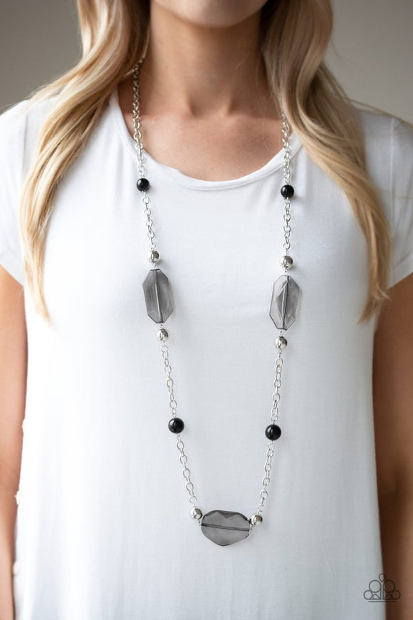 Crystal Charm - black - Paparazzi necklace