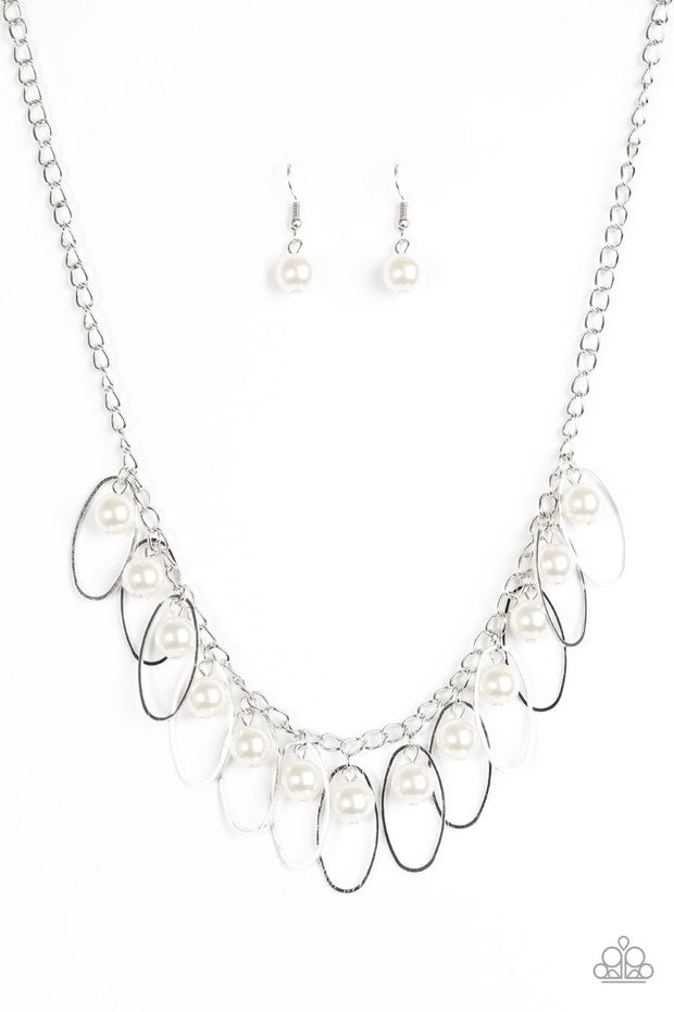 Paparazzi Party Princess - White Necklace - Glitzygals5dollarbling Paparazzi Boutique