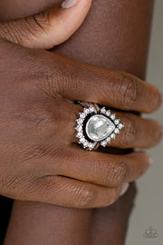 Paparazzi  Make Your TRADEMARK - White Ring Life of the Party Exclusive - Glitzygals5dollarbling Paparazzi Boutique
