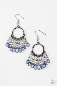 Paparazzi Paradise Palace Blue Earrings