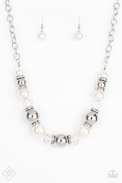 Paparazzi The Camera Never Lies - Silver - Necklace - Fashion Fix / Trend Blend October 2018 - Glitzygals5dollarbling Paparazzi Boutique