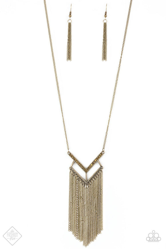 Alpha Glam Brass Necklace Fashion Fix Exclusive