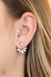 "Paparazzi ""Radical Refinement"" White Earrings - Glitzygals5dollarbling Paparazzi Boutique"