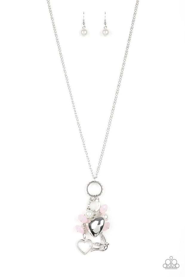 Paparazzi I Will Fly - Pink - Necklace - Glitzygals5dollarbling Paparazzi Boutique