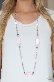 Paparazzi Crystal Charm - Pink Necklace - Glitzygals5dollarbling Paparazzi Boutique