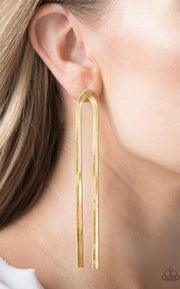 Paparazzi Very Viper Gold Post Earrings - Glitzygals5dollarbling Paparazzi Boutique