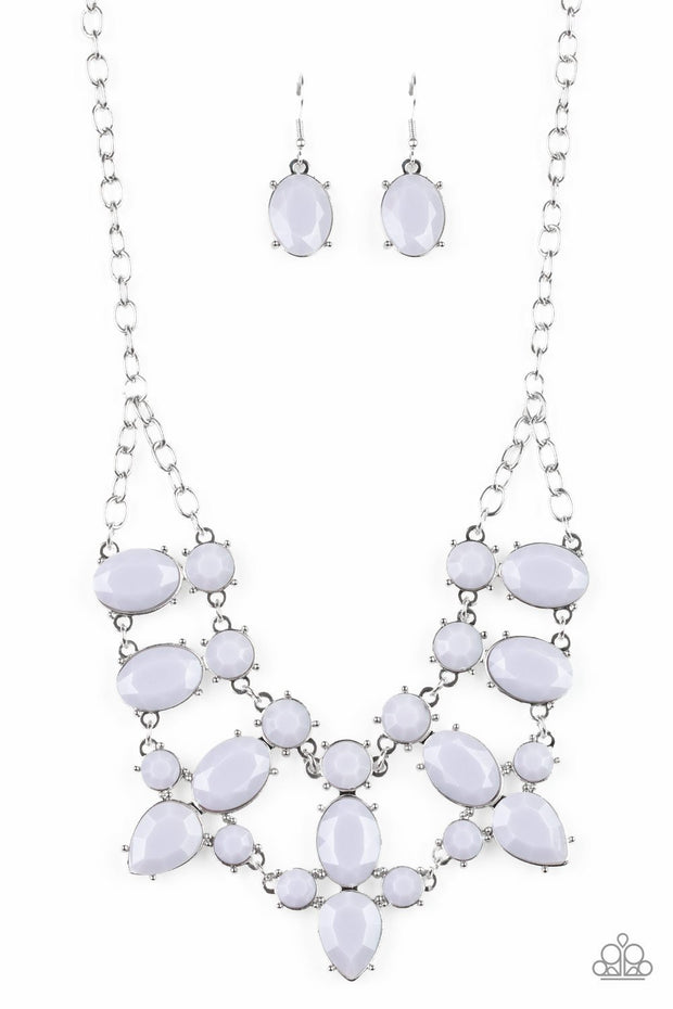Paparazzi Goddess Glow - Silver - Round, Oval and Teardrops - Necklace & Earrings - Glitzygals5dollarbling Paparazzi Boutique