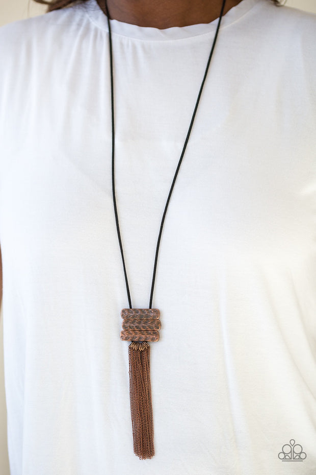 Paparazzi All About ALTITUDE Copper Necklace - Glitzygals5dollarbling Paparazzi Boutique