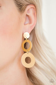 Paparazzi Pop Idol Gold Earrings - Glitzygals5dollarbling Paparazzi Boutique