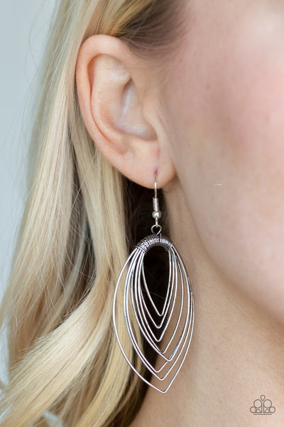 Paparazzi Walkabout Ware Silver Earrings - Glitzygals5dollarbling Paparazzi Boutique