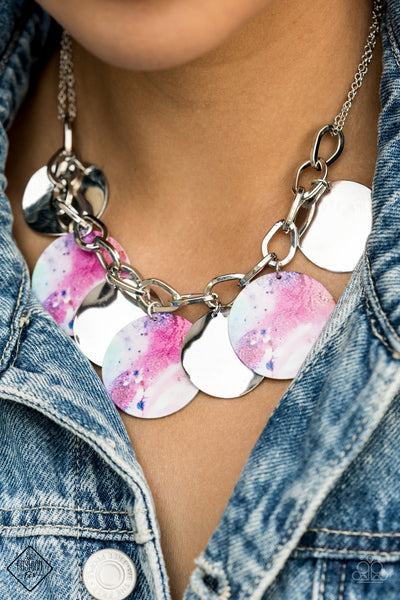Paparazzi Tie Dye Drama - Multi Fashion Fix Exclusive Necklace - Glitzygals5dollarbling Paparazzi Boutique